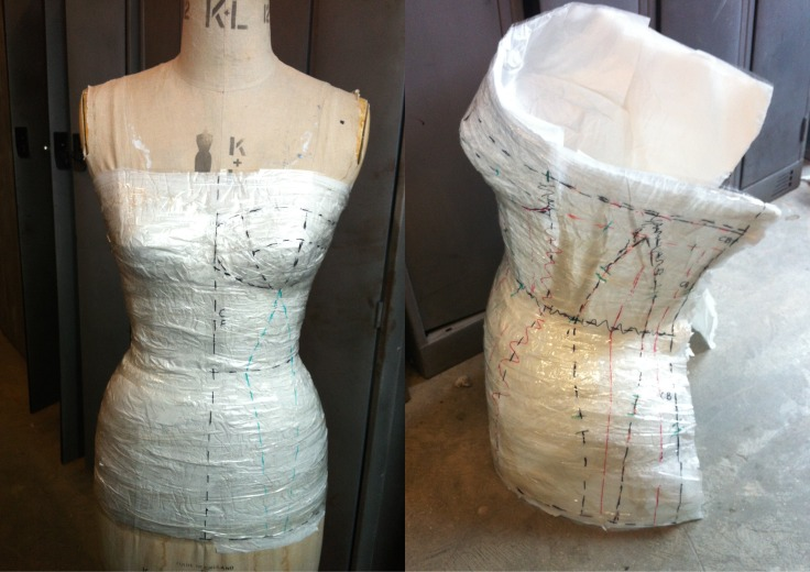 Sellotape Method of Corset Construction